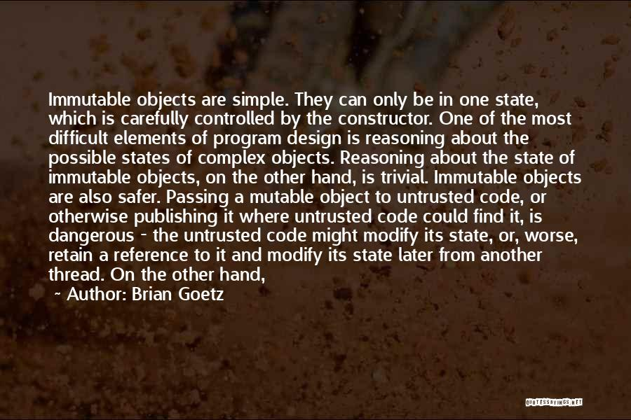 Untrusted Quotes By Brian Goetz