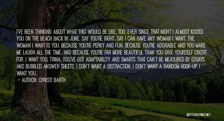 Up All Night Quotes By Christi Barth