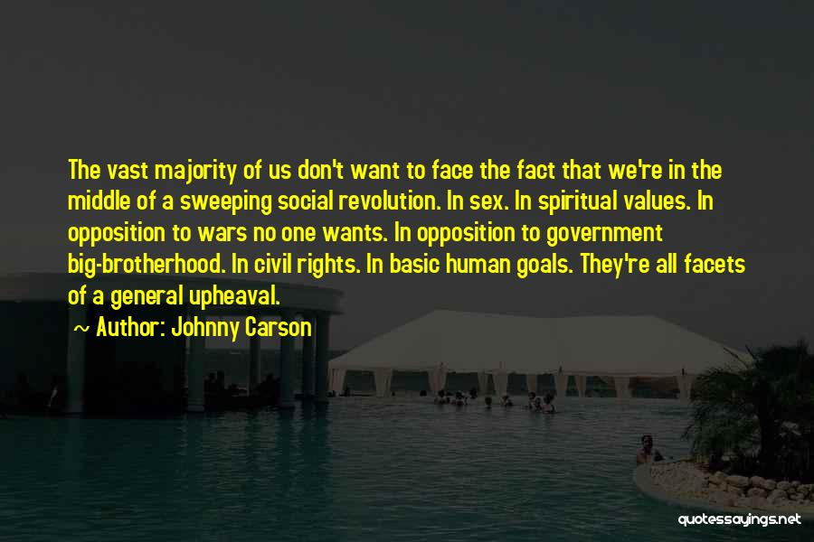 Upheaval Quotes By Johnny Carson