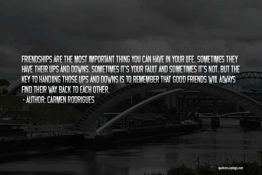 Ups And Downs In Life Quotes By Carmen Rodrigues