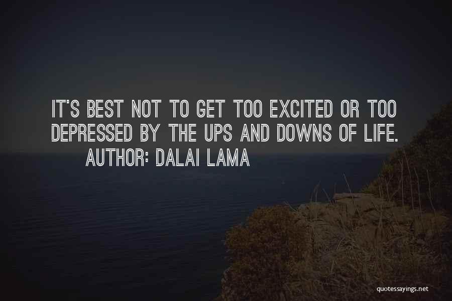 Ups And Downs Of Life Quotes By Dalai Lama