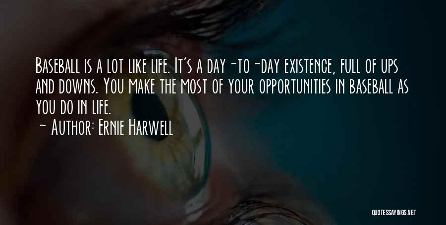 Ups And Downs Of Life Quotes By Ernie Harwell