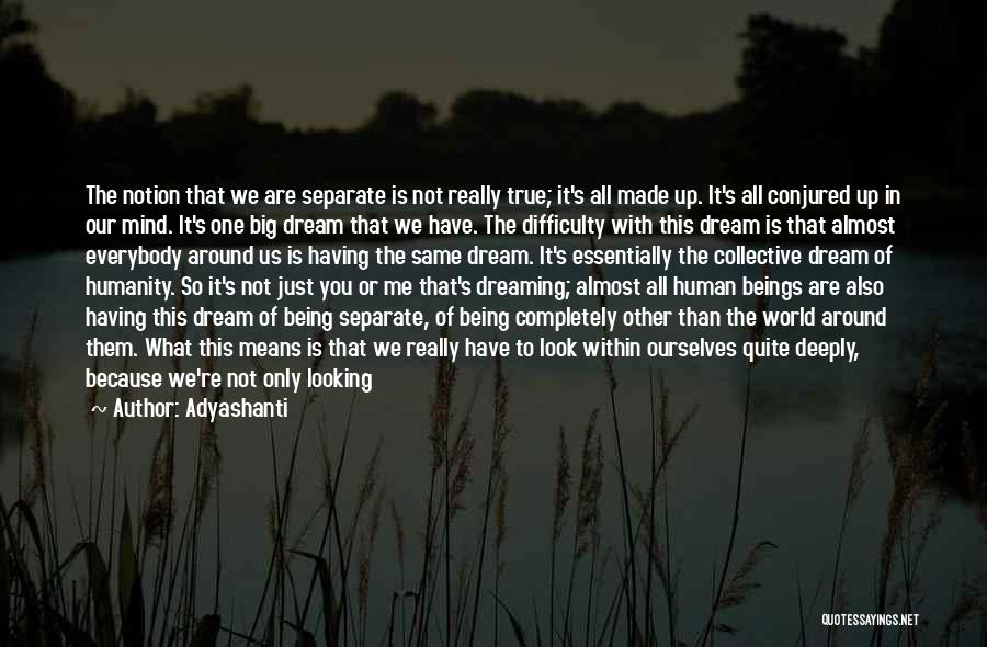 Us All Being Human Quotes By Adyashanti