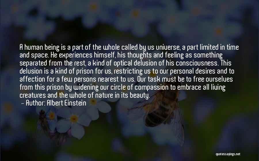 Us All Being Human Quotes By Albert Einstein