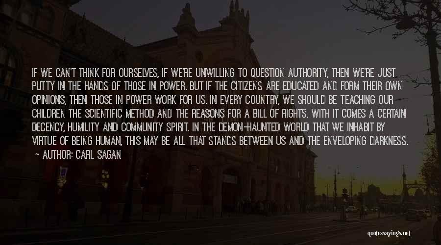 Us All Being Human Quotes By Carl Sagan
