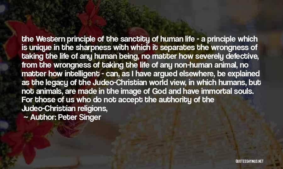 Us All Being Human Quotes By Peter Singer