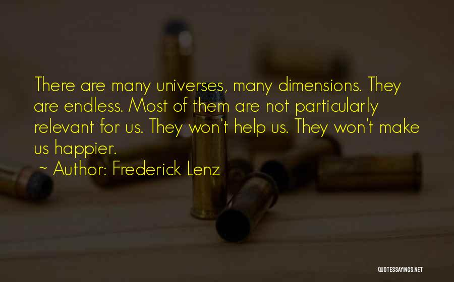 Us Them Quotes By Frederick Lenz