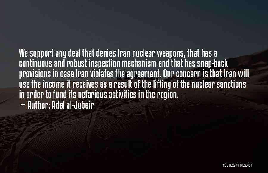 Use Of Weapons Quotes By Adel Al-Jubeir
