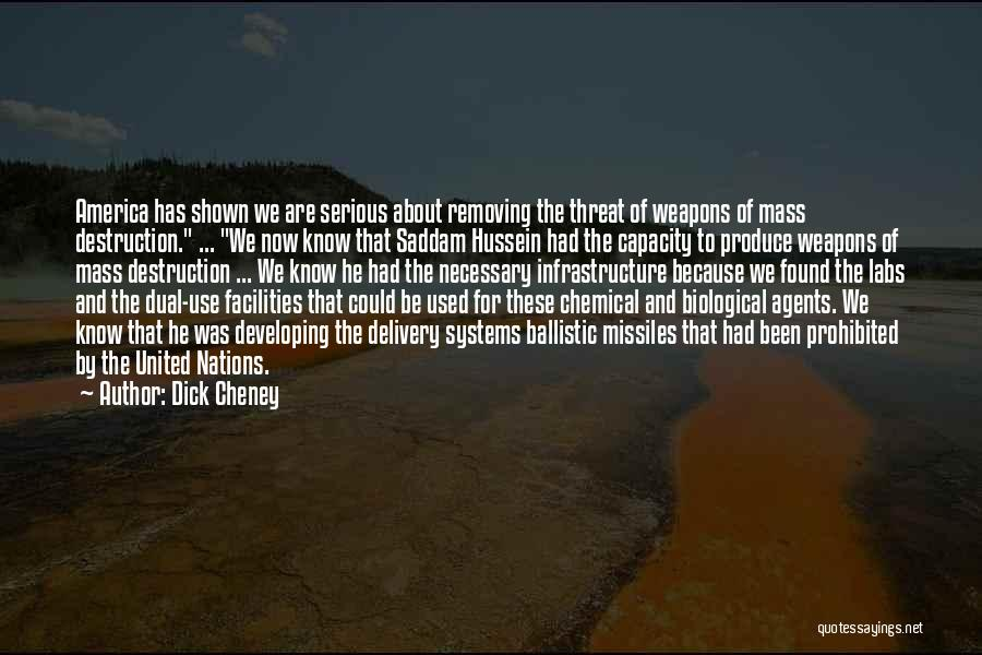 Use Of Weapons Quotes By Dick Cheney