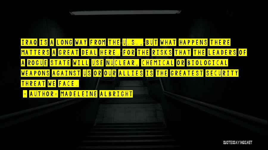 Use Of Weapons Quotes By Madeleine Albright