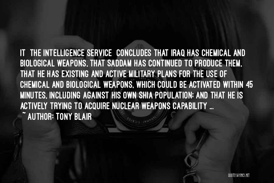 Use Of Weapons Quotes By Tony Blair