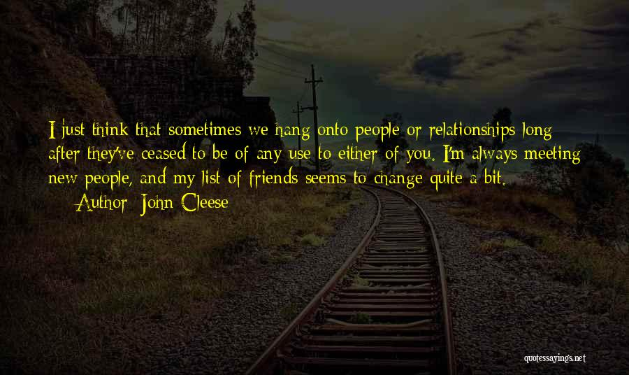 Use To Be Friends Quotes By John Cleese