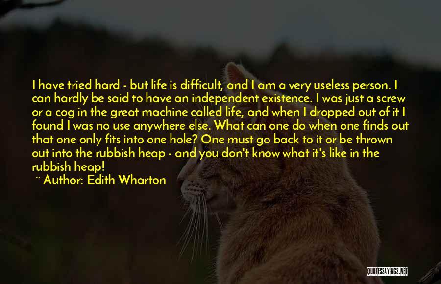 Useless Person Quotes By Edith Wharton