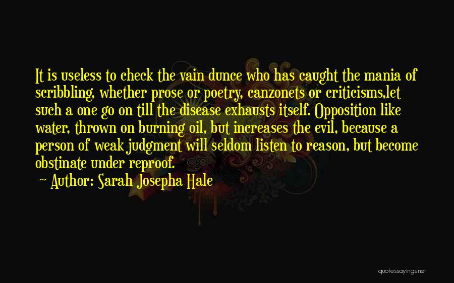 Useless Person Quotes By Sarah Josepha Hale