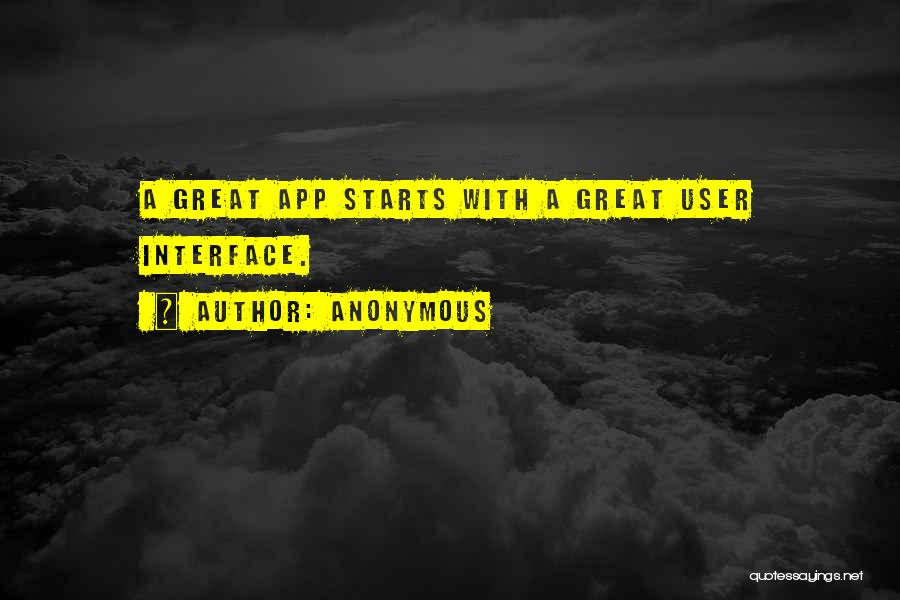 User Interface Quotes By Anonymous