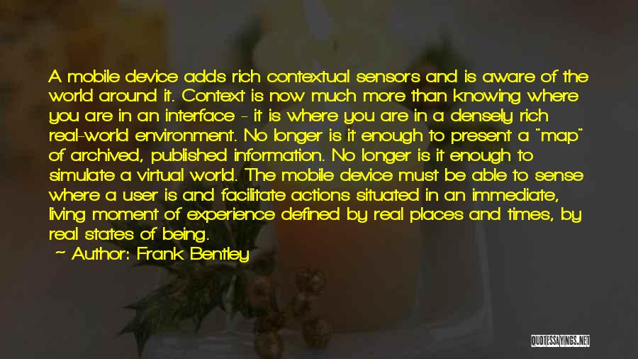 User Interface Quotes By Frank Bentley