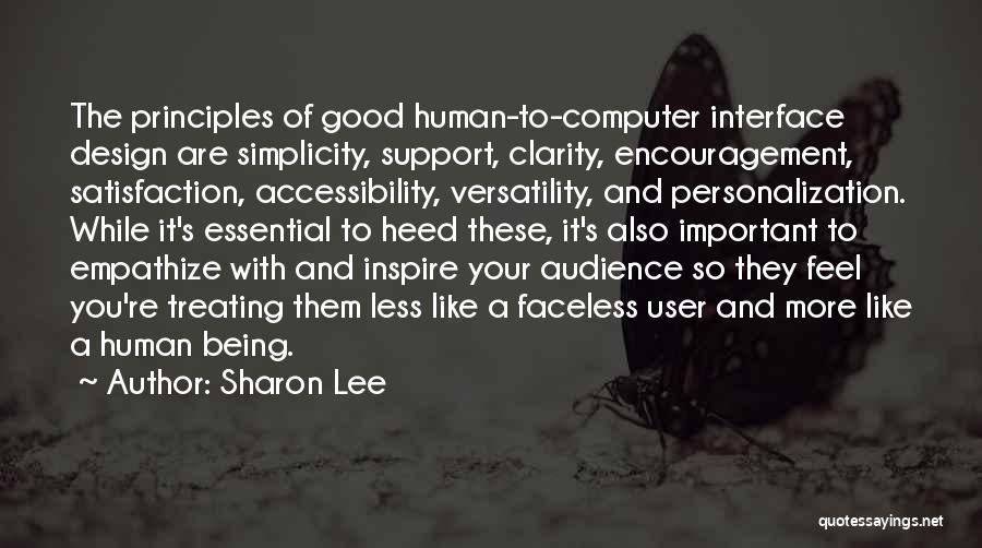 User Interface Quotes By Sharon Lee