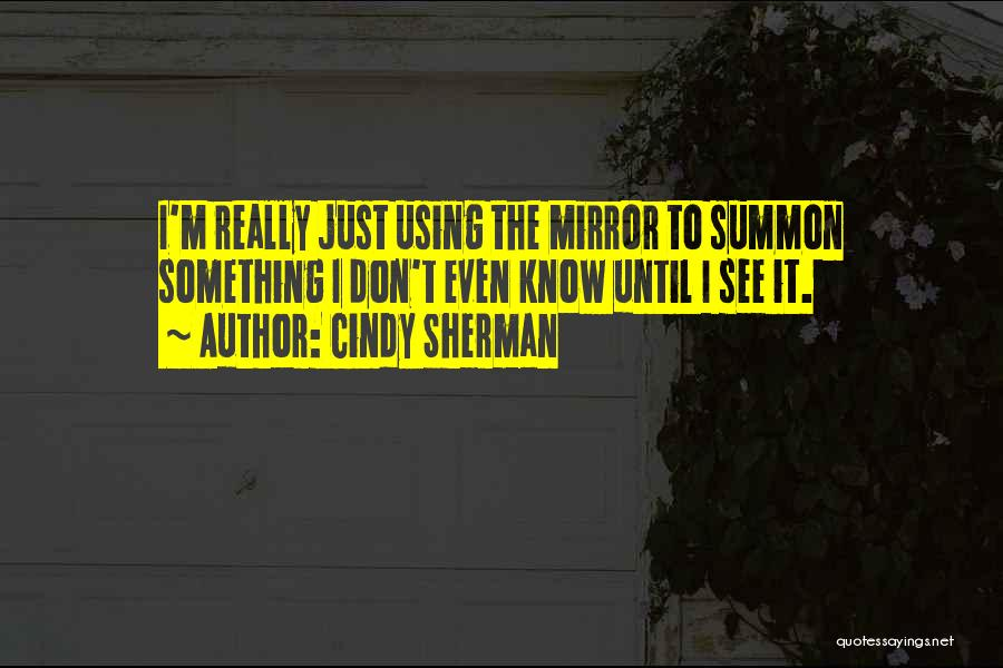 Using Quotes By Cindy Sherman