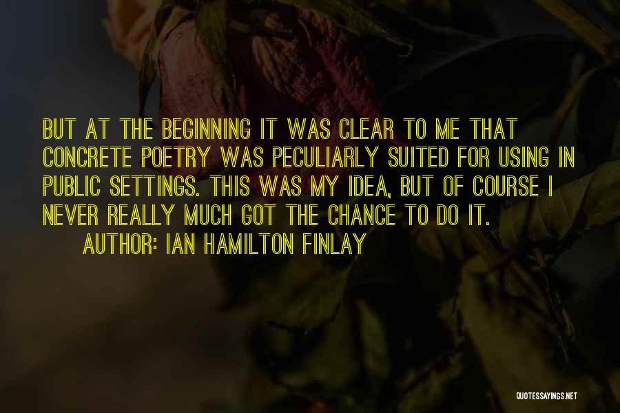 Using Quotes By Ian Hamilton Finlay