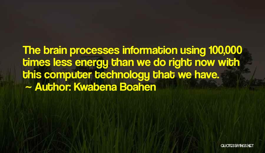 Using Quotes By Kwabena Boahen