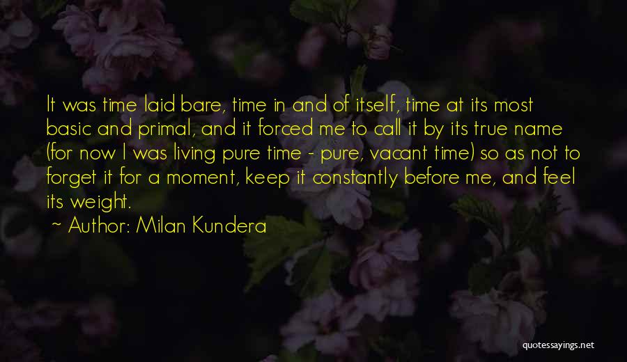 Vacant Time Quotes By Milan Kundera