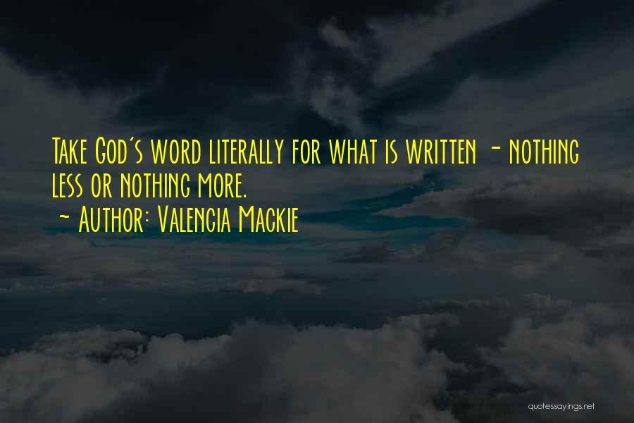 Valencia Mackie Quotes 2036369