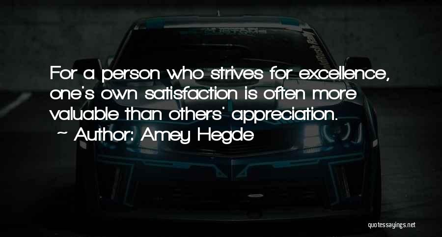 Valuable Person Quotes By Amey Hegde