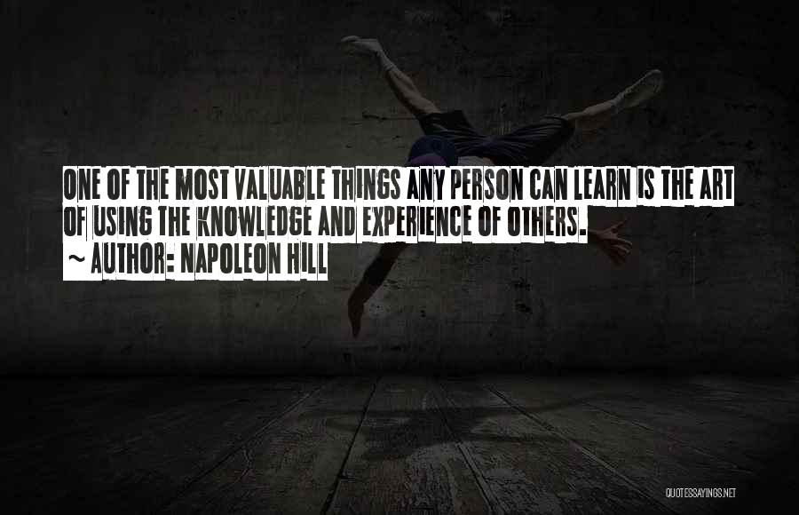 Valuable Person Quotes By Napoleon Hill