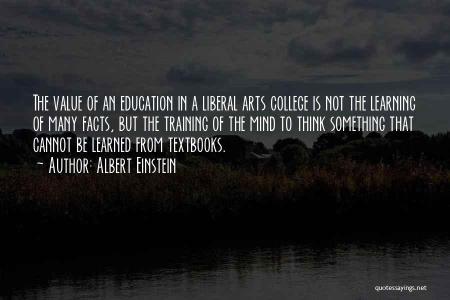 Value Of Arts Education Quotes By Albert Einstein