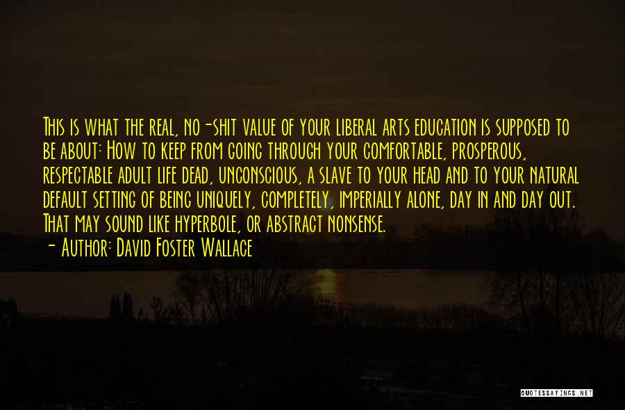 Value Of Arts Education Quotes By David Foster Wallace