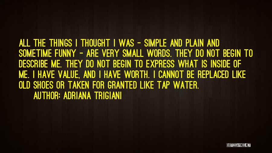 Value Of Small Things Quotes By Adriana Trigiani
