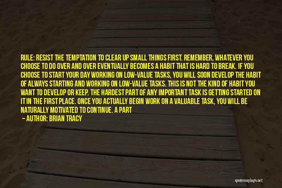 Value Of Small Things Quotes By Brian Tracy