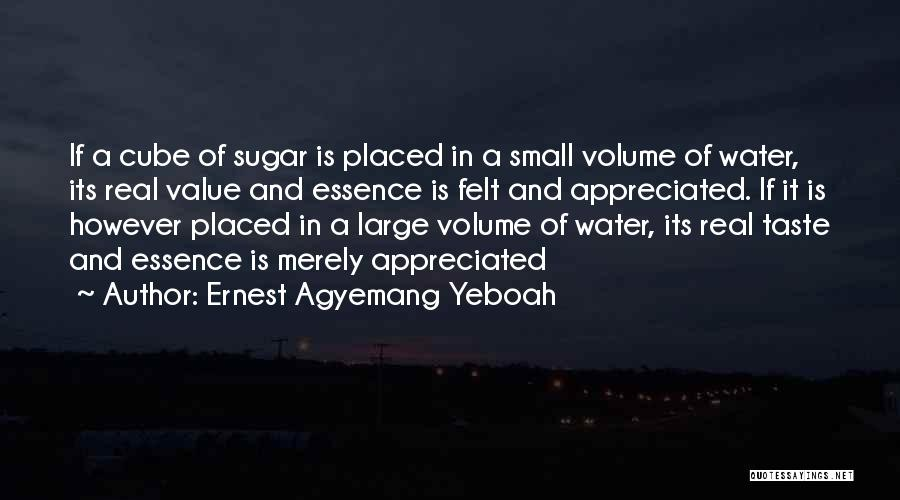 Value Of Small Things Quotes By Ernest Agyemang Yeboah