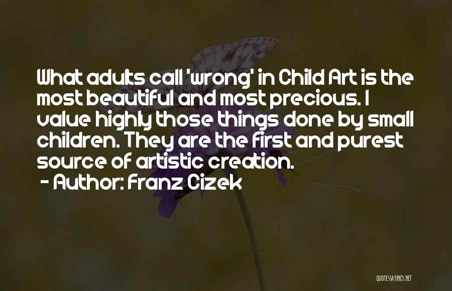 Value Of Small Things Quotes By Franz Cizek
