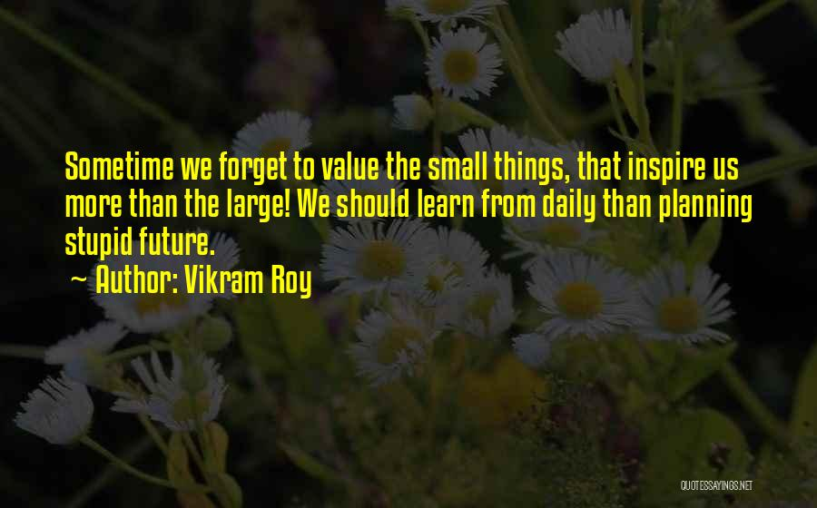 Value Of Small Things Quotes By Vikram Roy