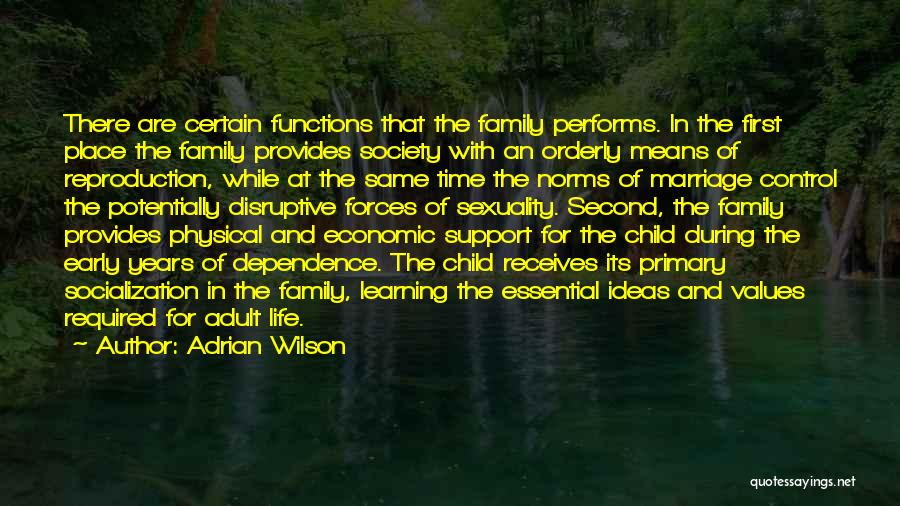 Values And Norms Quotes By Adrian Wilson