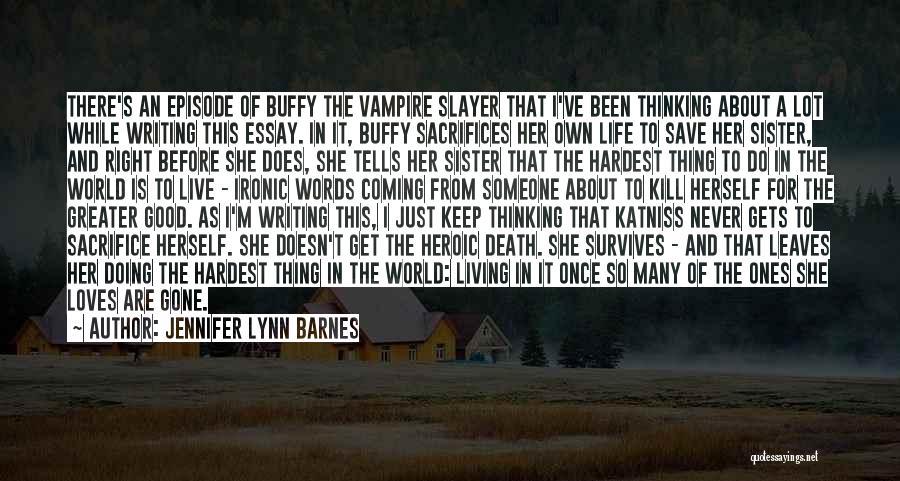 Vampire Life Quotes By Jennifer Lynn Barnes