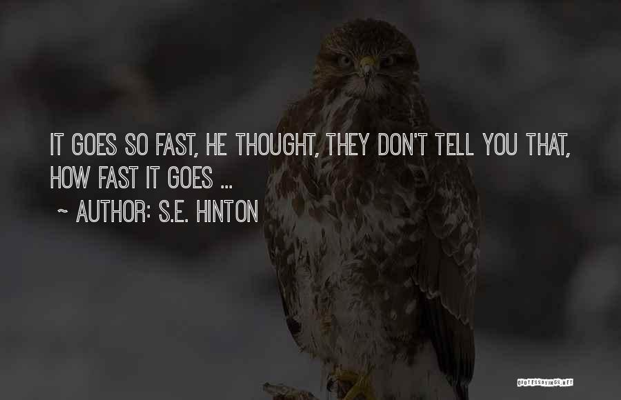 Vampire Life Quotes By S.E. Hinton