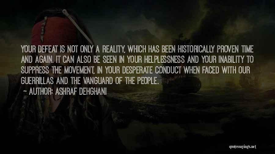 Vanguard Quotes By Ashraf Dehghani