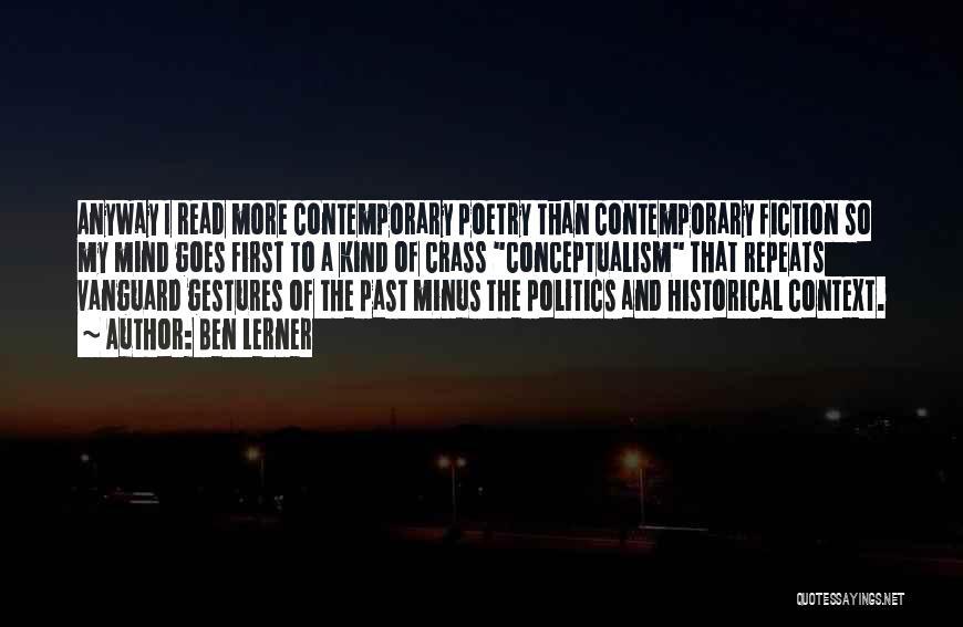 Vanguard Quotes By Ben Lerner
