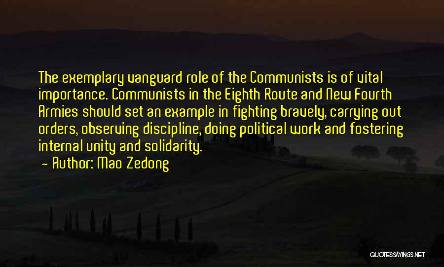 Vanguard Quotes By Mao Zedong
