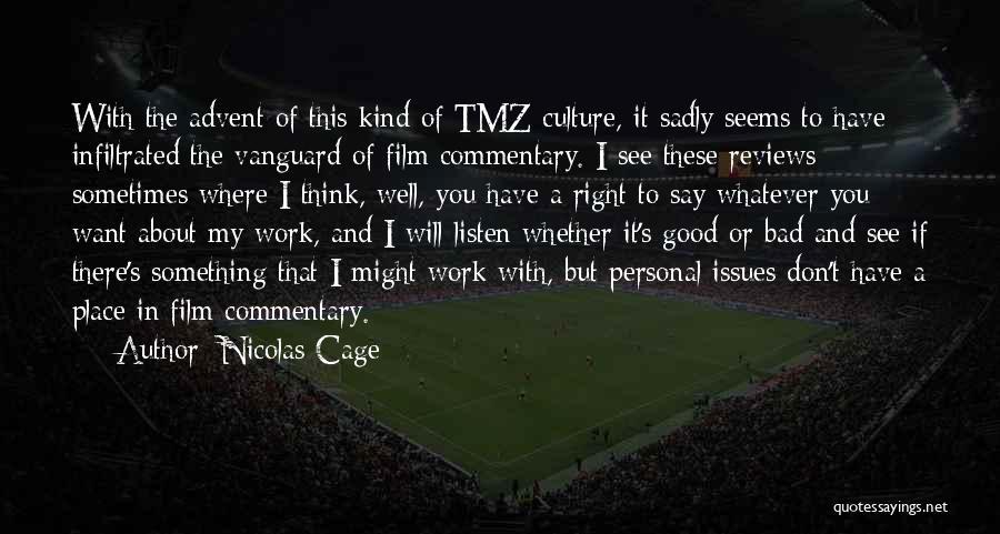 Vanguard Quotes By Nicolas Cage