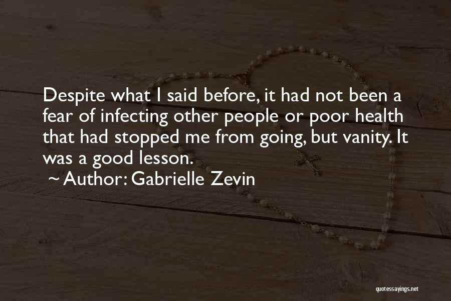 Vanity Quotes By Gabrielle Zevin