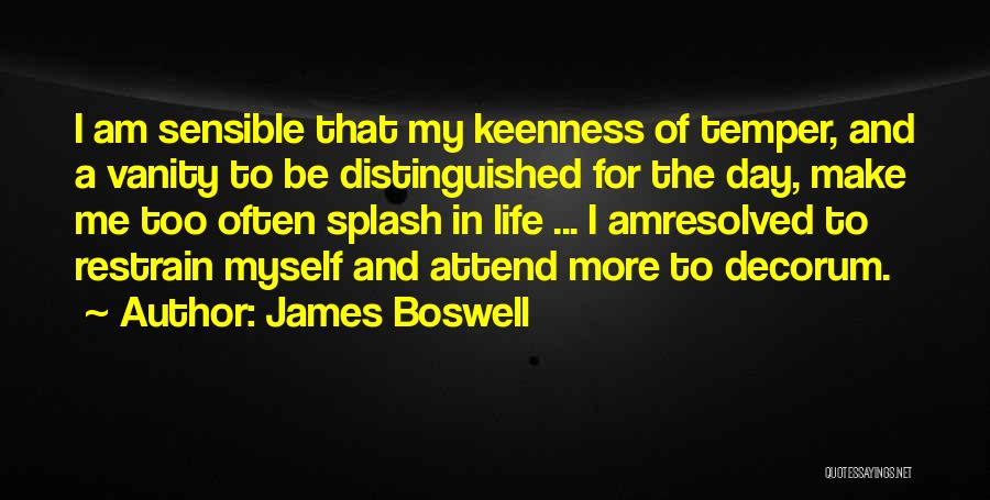 Vanity Quotes By James Boswell