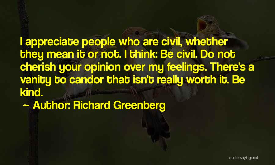 Vanity Quotes By Richard Greenberg
