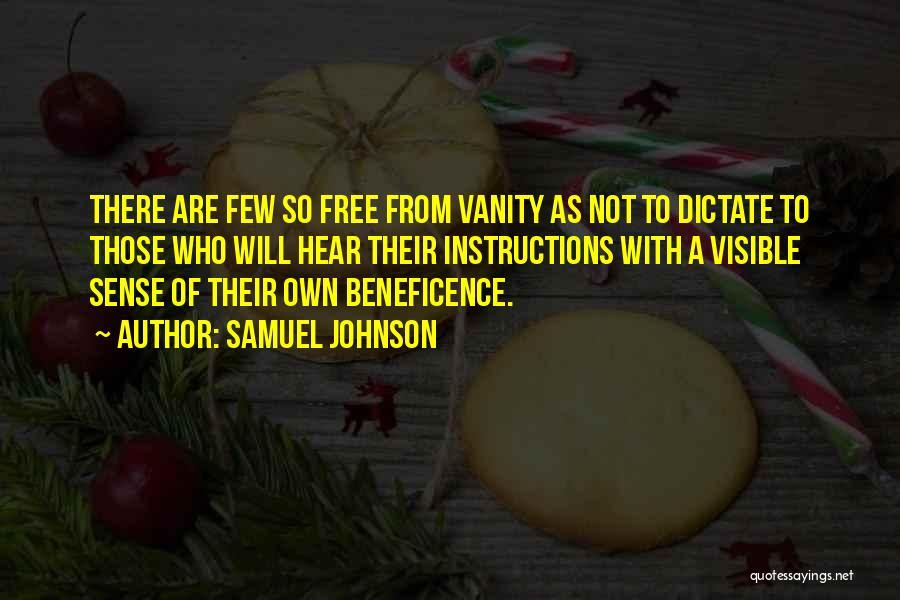 Vanity Quotes By Samuel Johnson