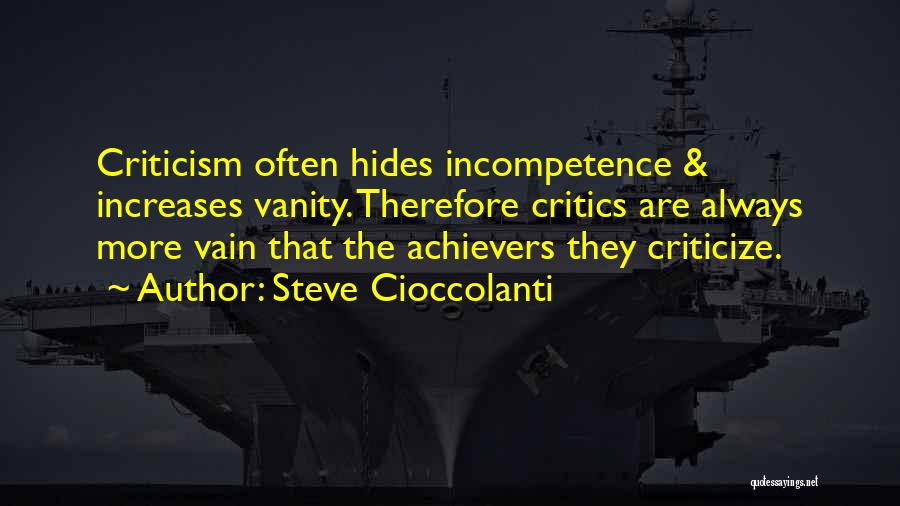 Vanity Quotes By Steve Cioccolanti