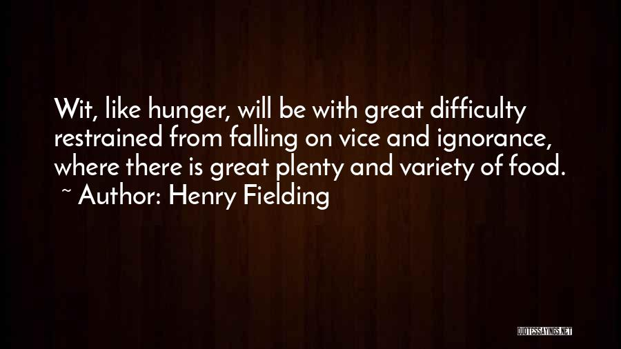 Variety Food Quotes By Henry Fielding