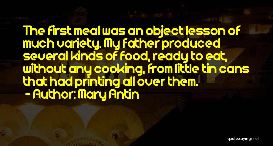 Variety Food Quotes By Mary Antin