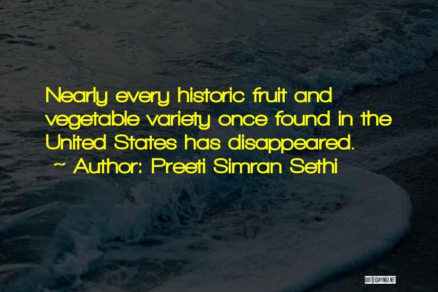 Variety Food Quotes By Preeti Simran Sethi